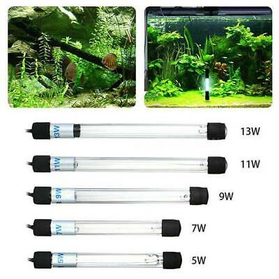 Aquarium UV Sterilizer Light Submersible Pond Fish Tank Water Clean Lamp 5W-13W
