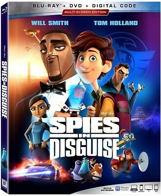 Spies in Disguise BLU-RAY+ DVD + Digital Copy 2020 BRAND NEW FAST SHIPPING