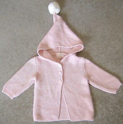 Wilson & Frenchy Baby Girls Cotton / Bamboo / Wool Cardigan Sz 00 (3 - 6 Months)