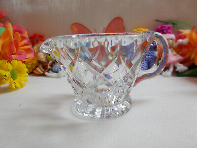 Lovely Little Heavy Crystal Jug - Diamond Cut / Scalloped / Starburst # 672