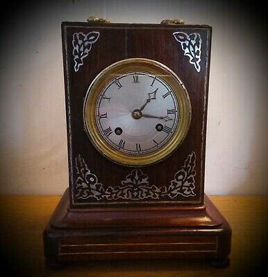Antique early 19th C. Pendules d' Officier / carriage clock in rosewood.
