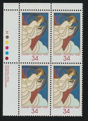1986 Canada SC# 1113 UL - Christmas-Angels - Plate Block M-NH Lot# 1853a