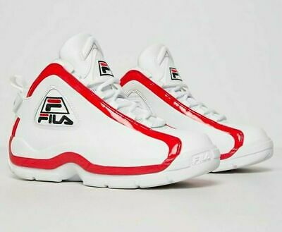 Details about Fila GRANT HILL 1 Mens BlackWhite Red 1BM00638 014 Basketball Shoes