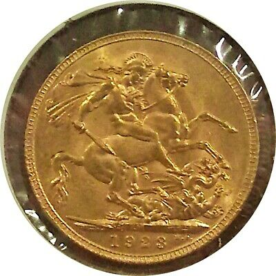 Australia 1923-M Gold Sovereign Melbourne Mint 510,000 Mintage Choice Uncirc