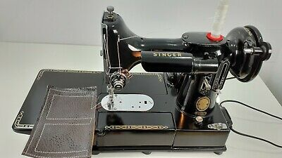 VINTAGE Singer 222K FREE-ARM Electric Sewing Machine, FULLY SERVICED, PAT TESTED