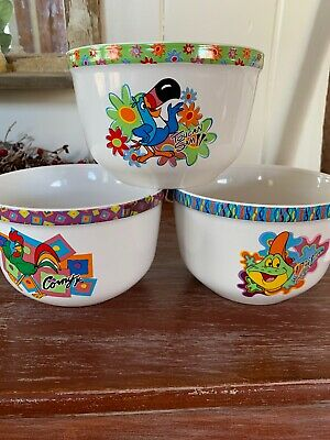 Lot Of Three Kelloggs Cereal Bowls
