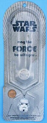 PENDANT necklace '77 vtg Star Wars Factors STORMTROOPER May Force Be With You