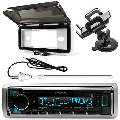 Kenwood KMRM325BT Bluetooth Receiver, Stereo Cover, Antenna, Suction Phone Mount