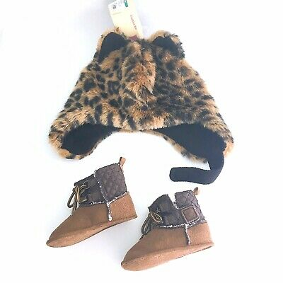 Infant Lot Winter Hat and Winter Boots(6-12-18 months)