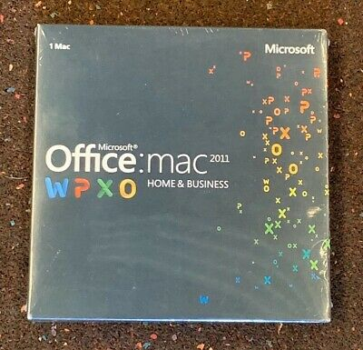 Microsoft Office Home and Business 2011 for 1 Mac  - Brand New & Sealed