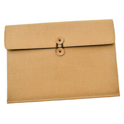 Kraft Paper File Document Holder Envelope Bag School Office Folder Pouch