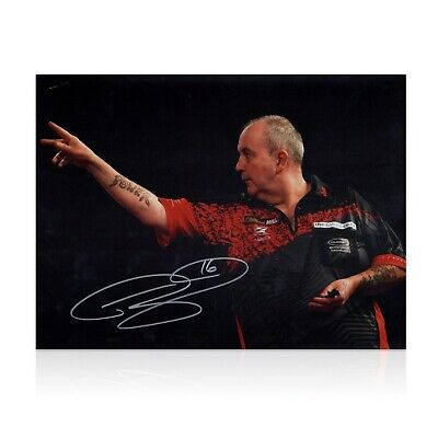 Phil Taylor Signed Darts Photo: 2018 World Darts Championships | Autographed