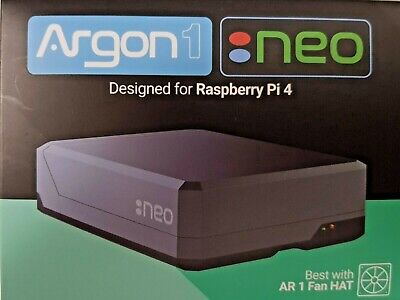 Argon NEO Raspberry Pi 4 Passive Heatsink Case Supports Cooling Fan Camera & LCD