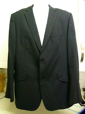 Ted Baker Endurance Blazer Jacket Men Black Pin Stripe Roses Design Wool Uk 42