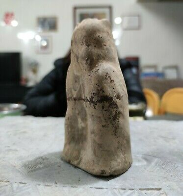 Chinese ANTIQUE EAST Han Dynasty  Gray Pottery OWL  Tomb GUARDIAN 2000 years old