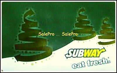 Subway Usa 2013 Christmas Eat Fresh Submarines English Collectible Gift Card
