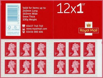 FV £228 NEW & Genuine 300 1st Class S/A Stamps 25 x 12 Booklets