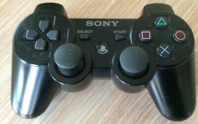 Sony DualShock 3 SixAxis Black Wireless Controller for PlayStation 3 -- UNTESTED