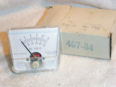 Vintage NOS Heathkit 407-84 Two-Range Scale DC Volt Panel Meter