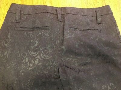 Sanctuary Mid/High Rise Skinny Zipper Pants Size 27 Black Satiny/Velvety Print