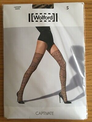 WOLFORD FLEUR tights pantyhose transparent flowers BNWT NEW
