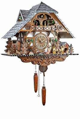Eble -biertrinker Black Forest House 45cm- 26321 Cuckoo Clock Real Wood