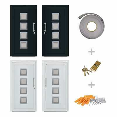 vidaXL Front Entrance Door Security Right/Left Anthracite/White Multi Sizes