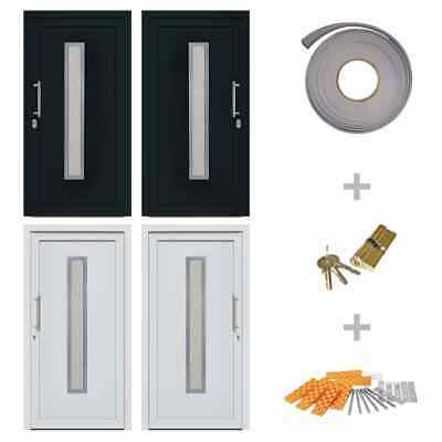 vidaXL Front Entrance Door Entry Gate Right/Left White/Anthracite Multi Sizes