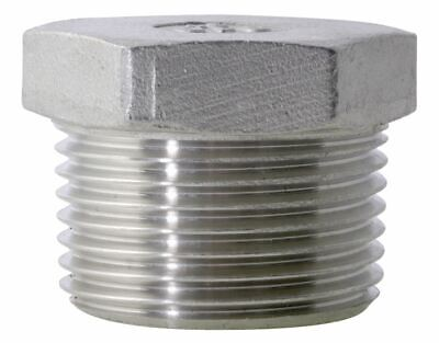 Pack of 5pcs BSP Hex Plug 316 Stainless Steel 150LB