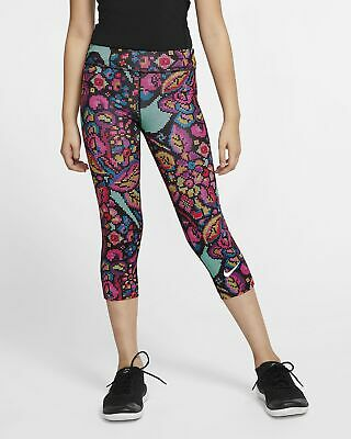 Girls Nike One Tight Fit Capri.  Large (12-13 years).   CJ7031-010