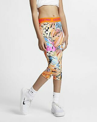 Girls Nike Pro Tight Fit Capri.  Large (12-13 years).   AQ9157-833