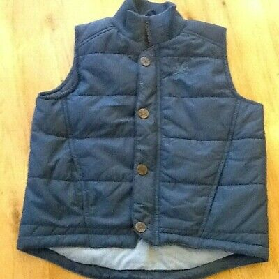 Childrens Padded Zipped Gillet Age 5-6 Years by No Added Sugar