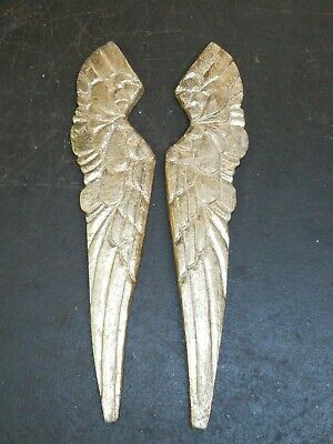 Carved Wood Antique Style ANGEL saint WINGS Gold Gilt Leaf Distressed Decor  art