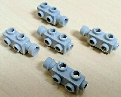 5 X Lego Motor Parts 4595 Brick 1x2x2/3 with studs LIGHT GREY Pack of 5 Pieces