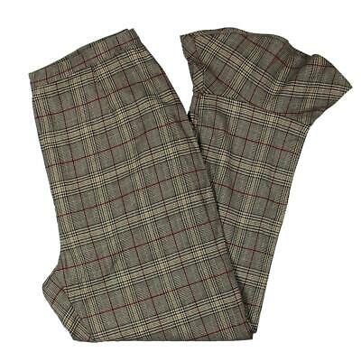BB Dakota Womens Brown Knit Glen Plaid Capri Pants Trousers 6 BHFO 1678