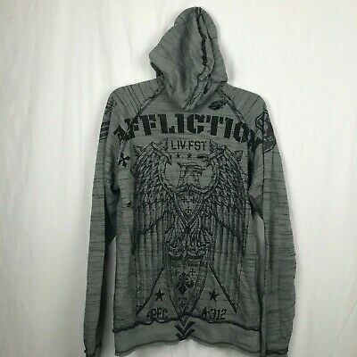 AFFLICTION Speed of Death zip Hooded sweatshirt jacket ~New w//Tags ~ A5265  $118
