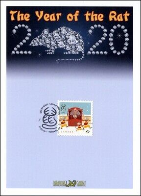 "Sc. TBA Canada Year of the Rat ""Permanent"" stamp ""Studs"" Dragon Card FDC"