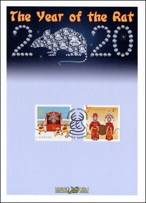 "Sc. TBA Canada Year of the Rat 2 rates ""Studs"" Dragon Card FDC"
