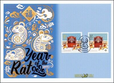 "Sc. TBA Canada Year of the Rat sheet/booklet ""icons"" Dragon Card FDC"