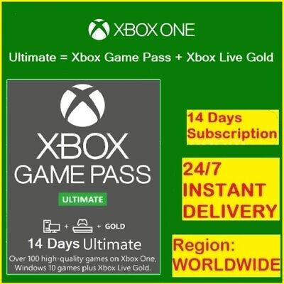Xbox Game Pass Ultimate 14 Days - Xbox  Live Gold + Game Pass / Instant Delivery