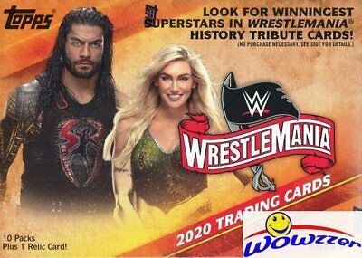 2020 Topps WWE Road to WrestleMania EXCLUSIVE Factory Sealed Blaster Box-RELIC!