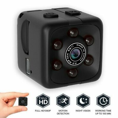 SQ11 HD 1080P Wireless Spy Hidden Camera Security Cam Night Vision Sport DVR ho