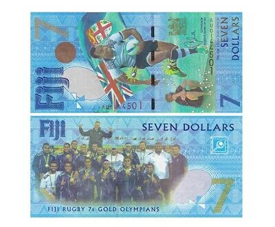 Fiji 2017-7 dollars Pick NEW UNC RUGBY 7/'s GOLD OLYMPIANS