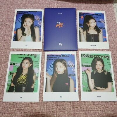 Itzy Official 2nd Mini Album IT'z ME Reservation Special Postcards Bl Photo Kpop