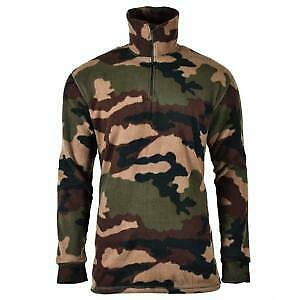 Chemise Polaire F1 Armee Francaise Camouflage Centre Europe Avec Col Montant Zip
