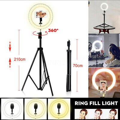 10'' Dimmable LED Ring Light Tripod Stand for Youtube Live Phone Photo