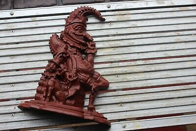 "Cast Iron Door Stop Mr Punch 12"" High"