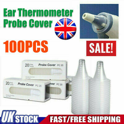 100Braun Probe Covers Thermoscan Replacement Lens Ear Thermometer Filter Cap UK❀