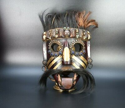 hair Wooden Old Tibetan Vintage wall Hanging Home Decor Mask