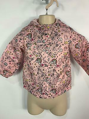 Girls Primark Pink Light Weight Summer Hood Raincoat Jacket Kids Age 18/24 Month